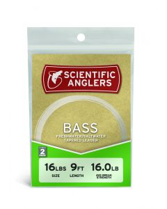 Scientific Anglers Bass Leader 9' 18# (0,33 mm) 2-pack Flueforfang