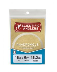 Scientific Anglers Anadromous Leader 9' 14# (0,28 mm) 2-pack Flueforfang